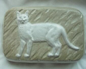 Cat Stone Doorstop, Door Stopper, Cat Sculpture, Cat Statuary, Free Shipping