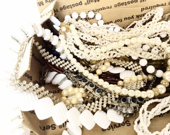 Lot Assorted Vintage Necklaces for wear reuse repurpose small flat rate box full