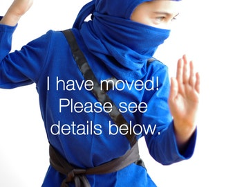 Ninja costume - My Costume shop HAS MOVED - Please see listing details for more info.