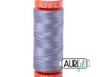 Grey Violet Aurifil Thread - 218 Yard Spool - 50 Weight Cotton Thread - 2524