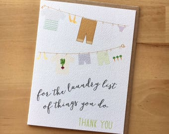 Laundry List of Thank You's