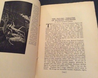 Theatre Arts Magazine October 1923 on Puppetry