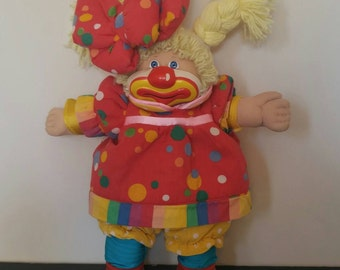 Vintage 1986 Coleco Cabbage Patch Kid Clown Doll - First Tooth