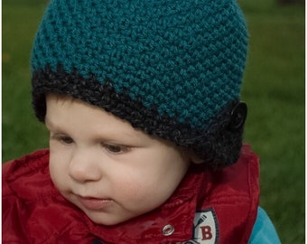 Button up earflap beanie