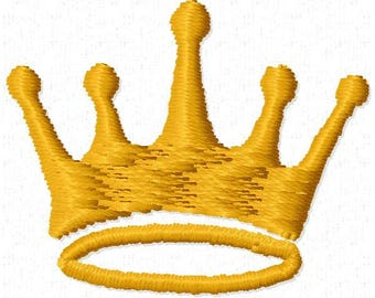 Crown Embroidery Design - Instant Download