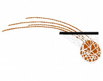 Basketball Embroidery Design - Instant Download