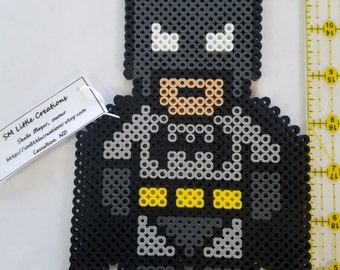 Batman perler bead art