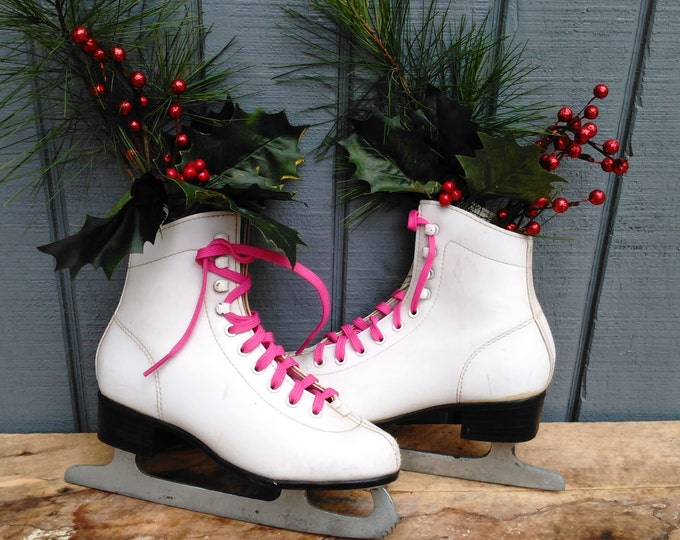 Vintage Ice Skates - Kids Ice Skates - Christmas Decor