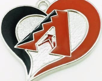26mm*26mm Arizona Diamondbacks Inspired Charm/Pendant, (Y33)