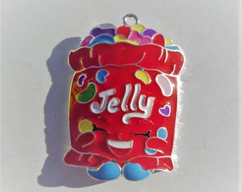 Jelly Bean Enamel Pendant, N37