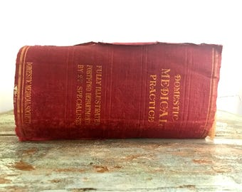 Antique 1916 The Household Physician Book