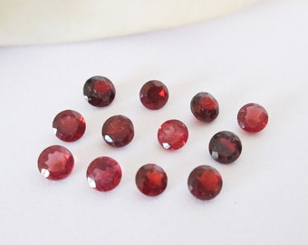 Natural Red Garnet Mixed Round Lot 4.15cts
