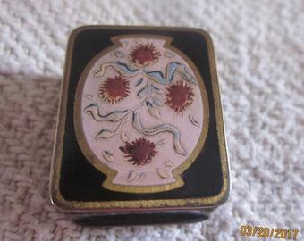 Art Nouveau Vintage Volupte Pill Box, Snuff Box,Volupte Pill Box,Presentation Box, EnamelBox,Coupon Code,Free Shipping, Volupte, Snuff Box
