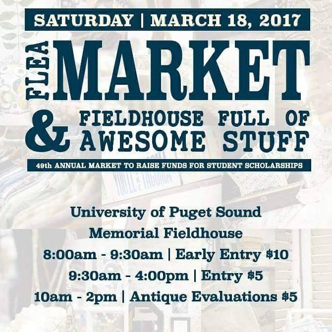 Flyer for the Flea Market on March 18th