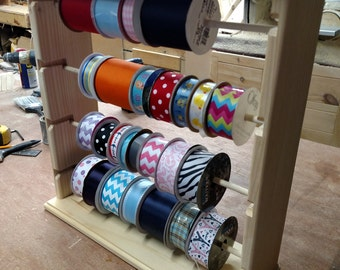 Ribbon rack organizer 100 spools natural