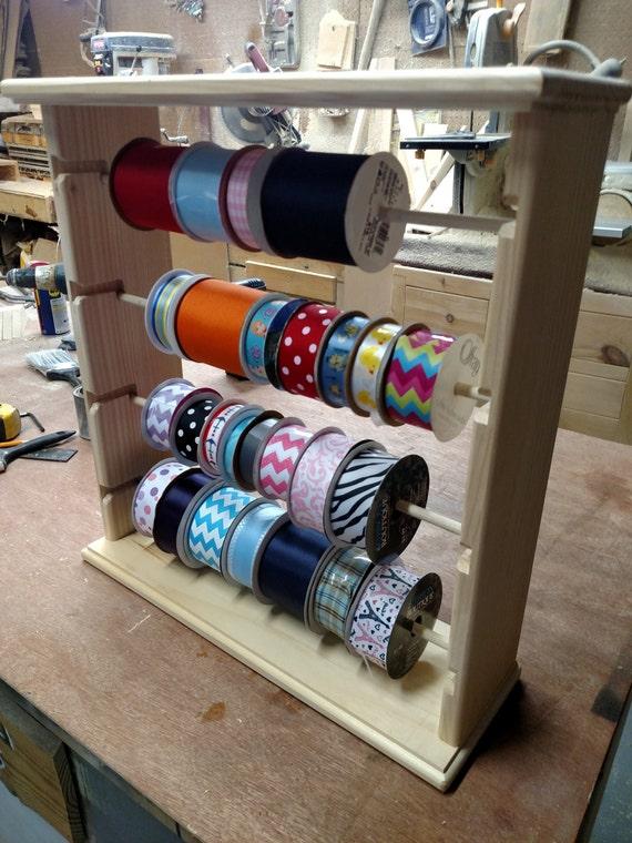 Ribbon rack organizer 100 spools natural