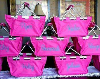Cute Fun Size Market Basket make great gifts- wedding, babies, bridal party, housewarming, birthday, corporate, pets, Personalized FREE