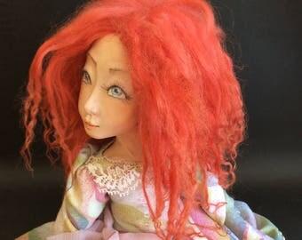 Art doll  OOAK   OOAK art doll Paper clay doll   Handmade doll  Home decor  Collecting doll Air dry clay doll  Decotative doll Interior doll