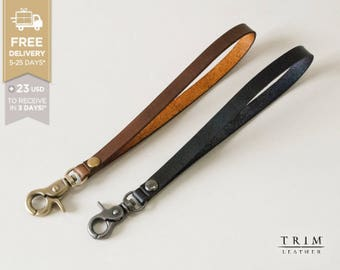 Handmade Leather Hand Strap Key Strap for iPhone Wallets and Keys [Free Shipping] [Handmade] [Custom Colors]
