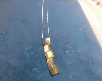 5 Square Dangle Necklace from Germany