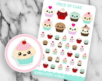 Kawaii Cupcakes | Planner Sticker Sheet