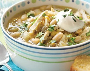 White Chili Recipe~~~Instant Download