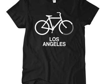 Women's Bike Los Angeles T-shirt - S M L XL 2x - Ladies' Tee, Gift For Her, Los Angeles Cycling Shirt, LA Cycling, Bicycle Shirt, Racing
