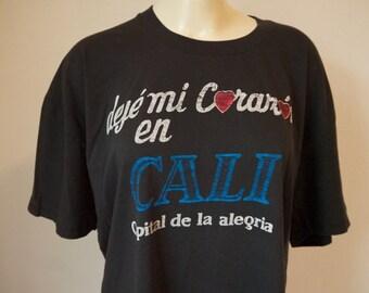 I left my heart in California vintage spanish tee, deje mi corazon