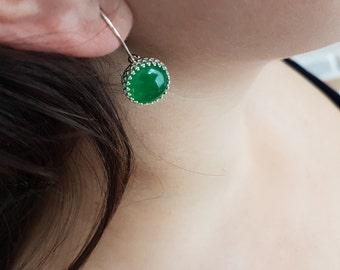 Malaysia Jade Sterling Silver Earrings