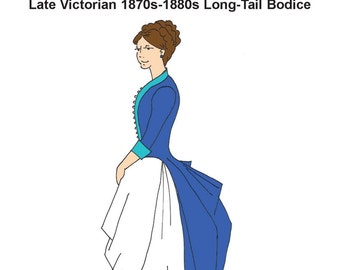 RH945 -- Late Victorian 1870s-1880s Long-Tail Bodice
