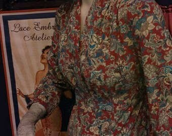 April Cornell Paisley Corduroy Day Dress - SALE