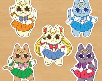 Sailor Moon Cat Stickers Pack / Sailor Senshi Kitties