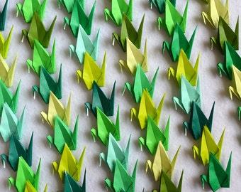 Origami Cranes 100 Small Green Origami Cranes