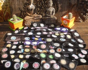 Hmong Stars  Vintage Hilltribe Embroidered Textile Decorations 100