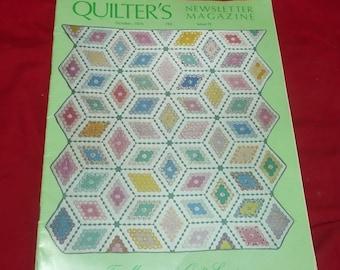 Quilter's Newsletter Magazine, October 1975,