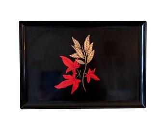 Large Vintage Couroc Japanese Maple Leaf Tray