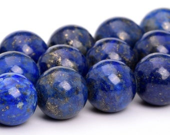 "8MM Lapis Lazuli Beads Grade A Natural Gemstone Full Strand Round Loose Beads 15"" BULK LOT 1,3,5,10 and 50 (101130-319)"