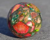 Multi jasper sphere for meditation  HP082