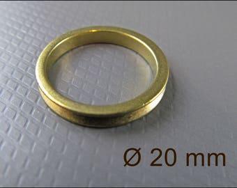 10 x circle pendant with patina, golden, A25