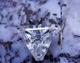 Amazing Huge Simulated Diamond Pendant, Old Hollywood Glamour