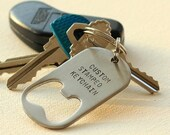 35% OFF SALE Personalized Keychain Bottle Opener Steel