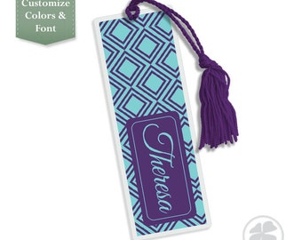 DIamond - Bookmark, Personalized Bookmark, Personalized Bookmark, Kids Bookmark