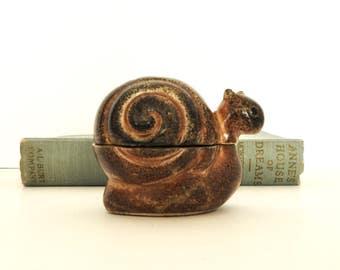 Small Snail Incense Burner- Ceramic- Trinket Box