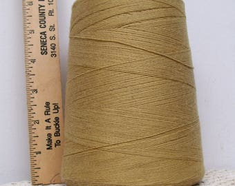 Coats Cotton CONE THREAD Heavy Duty Tex 150 Soft Goldenrod USA Sewing Jewelry Tassels Leather Craft