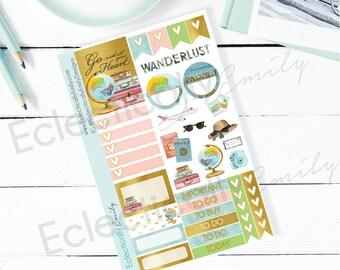Travel Sampler | Travel Planner Stickers | Travel Stickers | Planner Stickers | K031 Travel Sampler