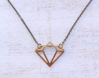 Diamond Shape Connector Necklace