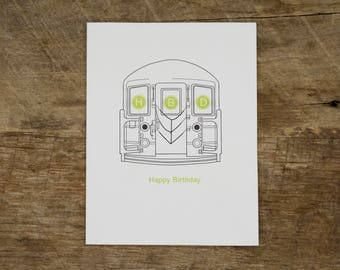 Subway Birthday Card