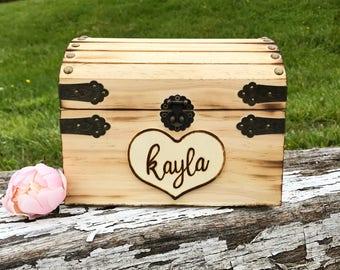 Keepsake box, hope chest, graduation gift, bride, baby, child, Rustic box, treasure chest, jewelry box