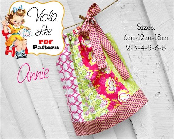 Annie Pillowcase Dress Pattern. Girls Dress Pattern. Toddler Pattern. Girls Sewing Pattern, Toddler Sewing Pattern, Girls Dresses, pdf