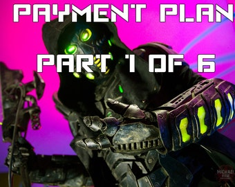 PAYMENT PLAN part 1 of 6 The Dreadwraith - Unique one of a kind color changeable rgb led original design scifi cyberpunk costume